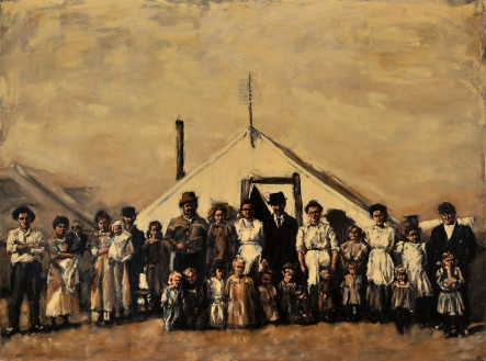 """Ludlow"" / Oil on Canvas / 96"" x 72"" / Colorado Springs Pioneers Museum - Permanent Collection"