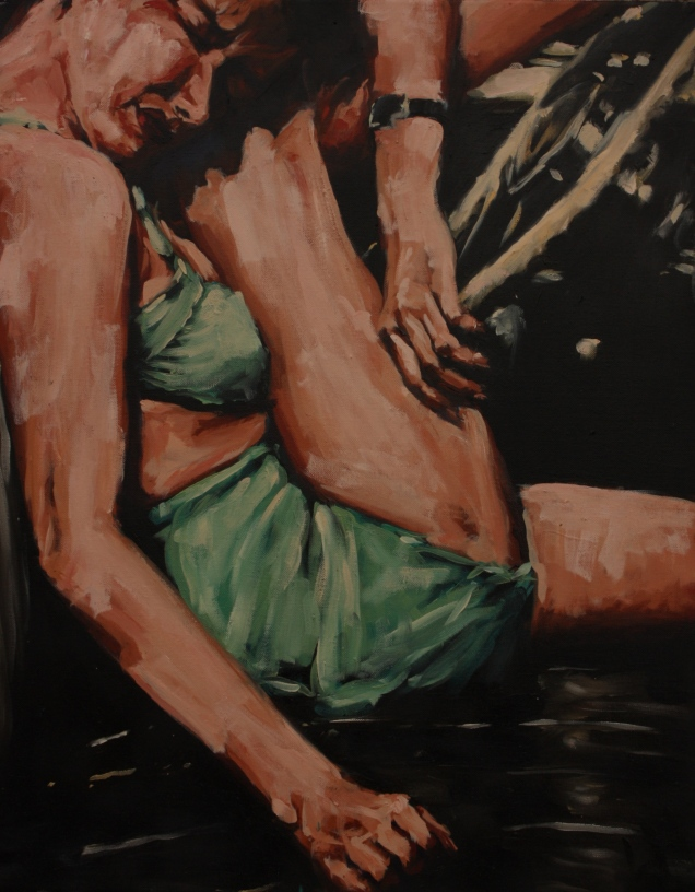 """Suddenly"" / oil on canvas / 24""x30"" Sold"