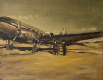 "AIRMAIL / oil on panel / 30""x23.5"" / Sold"