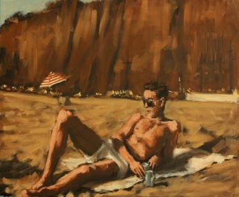 """...last summer."" Santa Monica '53 / oil on canvas / 20""x24"" / Sold"