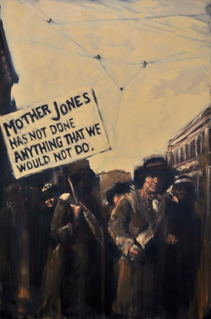 """Mother Jones has not done anything that we would not do"" / Oil on Canvas / 48"" x 72"" / For Sale"