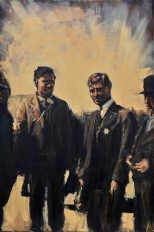 """""""Louis Tikas"""" / Oil on Canvas / 48"""" x 72"""" / For Sale"""
