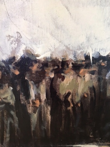 """Detail from """"Union Rally"""" / Oil"""