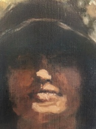 """Detail from """"Portrait of Cecelia: The Aura""""/ Oil"""