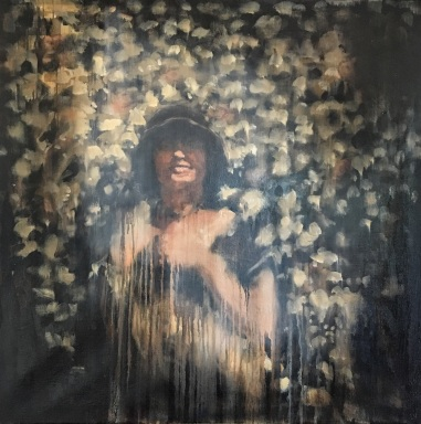 "Portrait of Cecelia: The Aura / 30 x30"" / Oil"